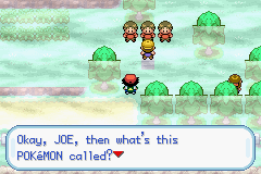 Pokemon Ash Gray (beta 3.61) - Cut-Scene  - Yeah Joe, what pokemon is that? - User Screenshot